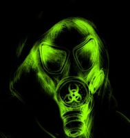 Neon Gas Mask by Razorbliss101