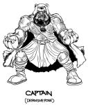BARBARIANS CAPTAIN Character Design by PaulSizer