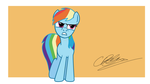 Peeved Rainbow Dash by rowan1993