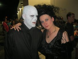 Voldemort and Belatrix Cosplay by ThePossessedPuppet