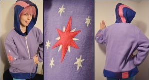 Custom Twilight Sparkle Hoodie Commission by Monostache