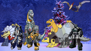 Merry Christmas from us Autobots by darthraner83