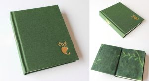 Green Journal with Gilded Symbol by GatzBcn