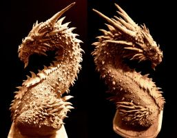 Dragon Bust unpainted shots by FritoFrito