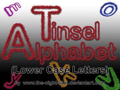 TINSEL LOWER CASE LETTERS PNG's by the-night-bird