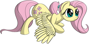 Fluttershy preparing for takeoff - NATG VI Day 3 by DataPony