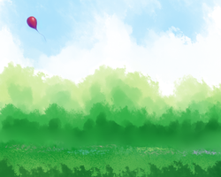 Shiny Red Balloon by KazeSkyfox