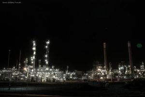 Oil plant on night by ArcticRay