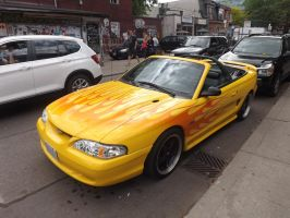 The Flaming Mustang In Kensington Market #2 by Neville6000