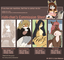 commission prices 2013 by thestoneycoyote