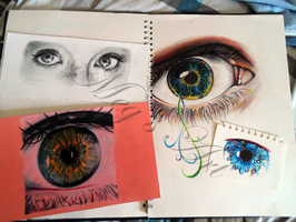 Eye Drawings by stardust12345