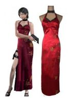 Resident Evil 4 Ada Wong Red Cosplay Costume by Leonaclick