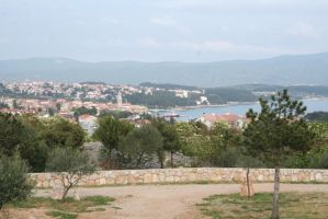 view from campsite to Krk town 2 by ingeline-art