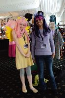 Fluttershy and Twilight Sparkle at Kawa Kon by InsaneUndertaker