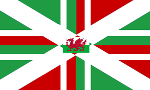 Anglo-Welsh Flag by LouisTheFox