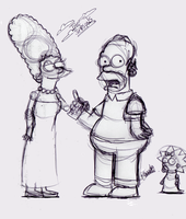 The Simpsons: Sketched by LeeRoberts