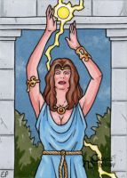 Circe Sketch Card - Classic Mythology by ElainePerna