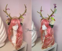 Butterfly Fawn Headdress by Lillyxandra