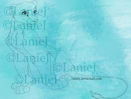 Lioness Line Art (Updated Price: 80 Points) by LanieJ