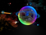 The floating city in space by The--Grimreaper