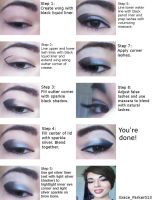 Supernatural inspired make-up tutorial by GraceDragon013