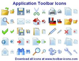 Application Toolbar Ikons by yourmailkept
