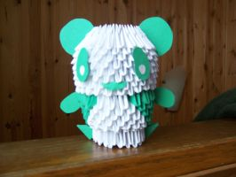 3D origami panda by Dead-Promises