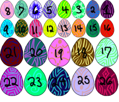 Roshu and Kishu Eggs Sale[SOLD] by GrimmXD-Adopts