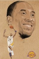 Kobe Bryant of the Los Angeles Lakers by workofaart