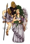 Athena and Medusa by witchhboy