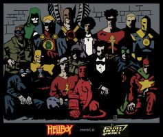 JSA meets Hellboy - Color by Gat0rl1veBEATZ