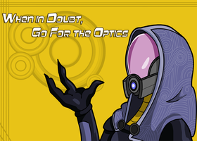 Mass Effect - Tali Postcard by SheepiSaru