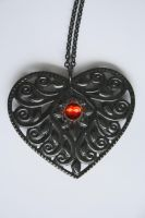 Antique Heart Necklace by Jazzman1989