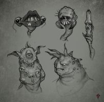 Substrata Creature Sketches by Hazzard65
