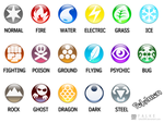 Pokemon Type Symbols by falke2009