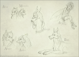 Some Traditional Doodles by RuneDraconis