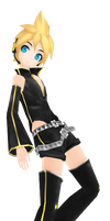 [MMD] Project DIVA: Extend - Punkish Len + DL by mist-of-wind