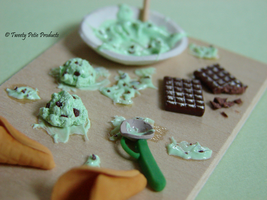 Mint Chocolate Chip Ice Cream by birdielover