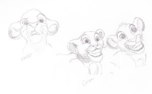 Sketches from the Lion King by caitiedidd