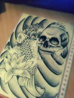 Skull and Koi by Hausofch