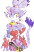 Blaze the Cat Evolution by Suirano