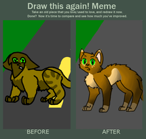 Shrewpaw's Death - One year's Difference by PornagraphicTiger