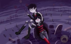 Marcelline and Marshall lee by Ekichun