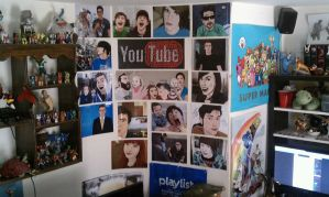 YouTube Wall. by MttKn14