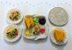 Miniature Taco Meal by KrystalsTinyCakery