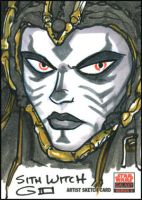 SWG5 Sketch Card: Sith Witch by grantgoboom