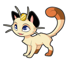 Meowth by Sugarcup91