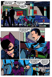 Comic Catwoman bound and gagged in panel by benja100