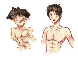 I DREW EREN WITH MY RIGHT HAND THEN MY LEFT HAND by Toukoni