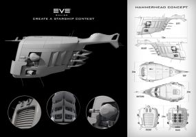 HammerHead - Starship Concept by momodesign